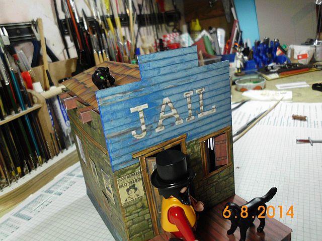 Sheriffbüro + Gefängnis von Papermau - Fertig und Galerie 8a13