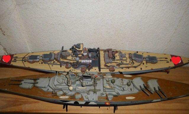 Restauration einer 1/350iger (1/400er) KMS Tirpitz von Lindberg Clipbo10