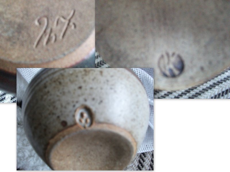 My sister has some gorgeous pieces but we don't know who created them! Can anyone identify these three marks? Jills_10