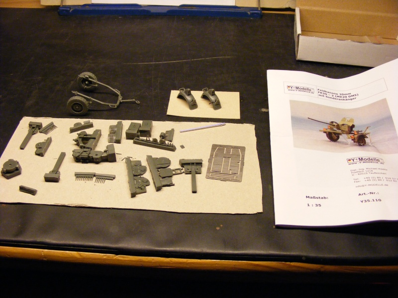 Feldkanone 20 mm FK 20 - 2  ( MK 20 DM 5 ) mit Sonderanhänger in 1:35 Dscf1421