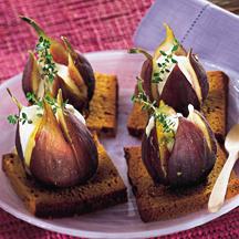 Canapés de pain d'épices aux figues Painep10