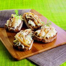 Toasts de hareng aux pommes Toasts10