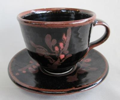 Black/Brown Cup & Saucer is Peter Holmes Black_10
