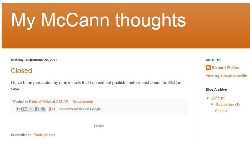 My McCann Thoughts blog not blogging any more Captur40