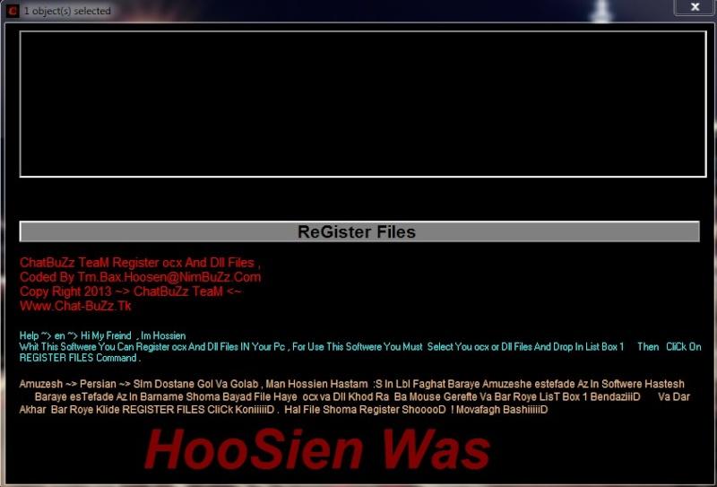 ChatBuZz TeaM ocx And Dll Files Register By Tm.Bax.Hoosen@NimBuZz.Com Dll10