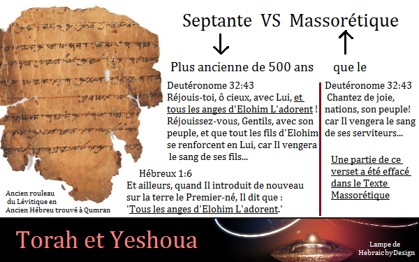 Septante VS Massorétique Septan11