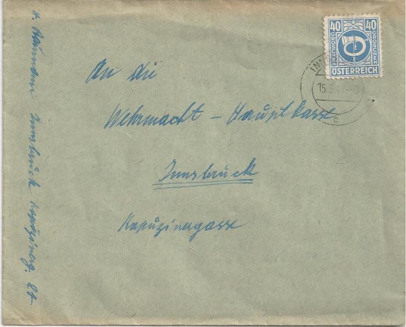 Posthornzeichnung  -  ANK 697-713  -  Belege Bild101