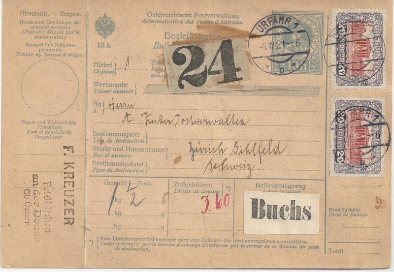 Inflation in Österreich - Belege - 1918 bis 1925 - Seite 5 Bild105