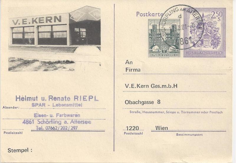 """Wertstempel """"Schönes Österreich"""" - Zudrucke auf Ganzsachen - Seite 2 Bild117"""