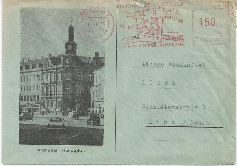 Werbeumschläge und -karten aus Österreich Bild132