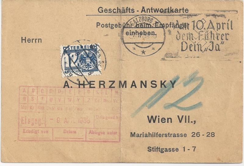 Österreich im III. Reich (Ostmark) Belege - Seite 5 Bild140