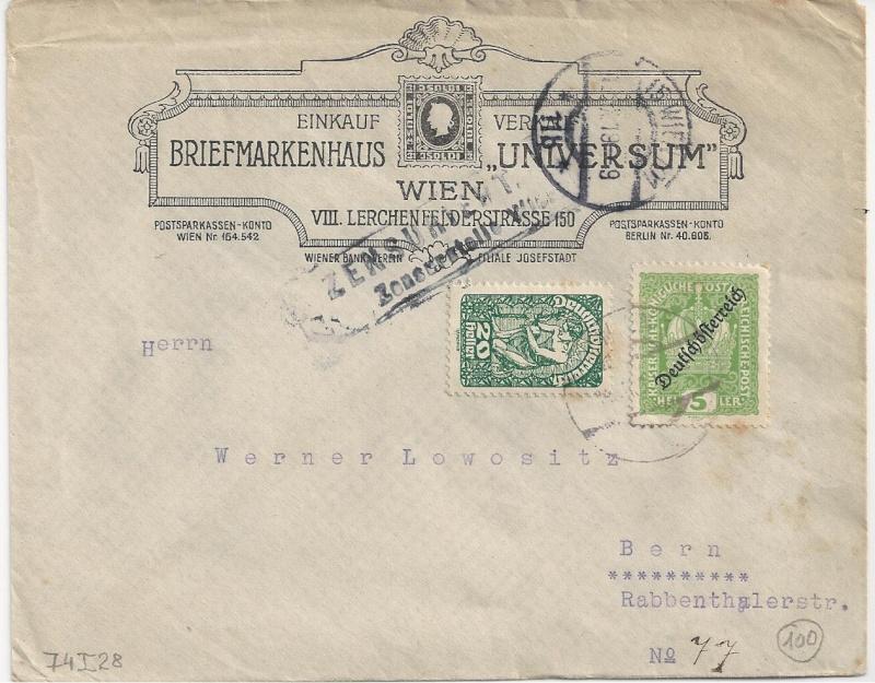 Inflation in Österreich - Belege - 1918 bis 1925 - Seite 3 Bild142