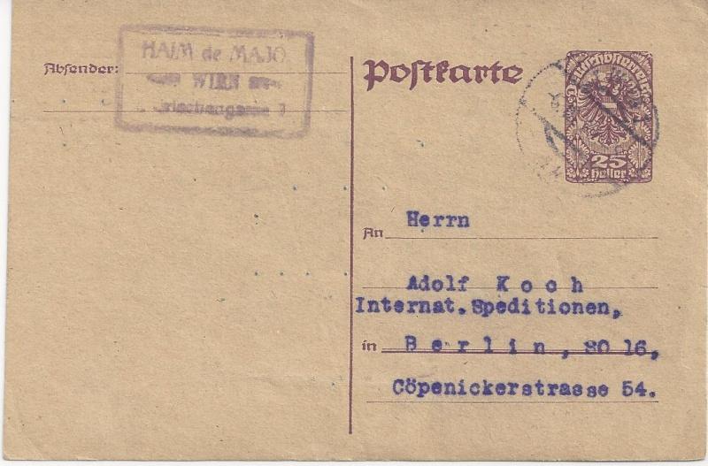 Inflation in Österreich - Belege - 1918 bis 1925 - Seite 3 Bild147