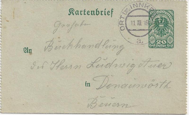 Inflation in Österreich - Belege - 1918 bis 1925 - Seite 3 Bild148