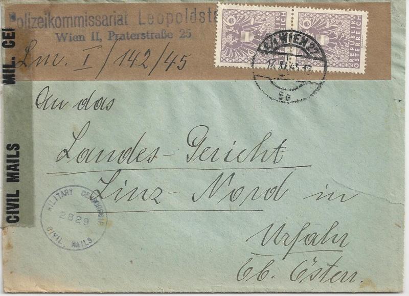 Deutsches Reich - Belege aus November 1945 Bild26