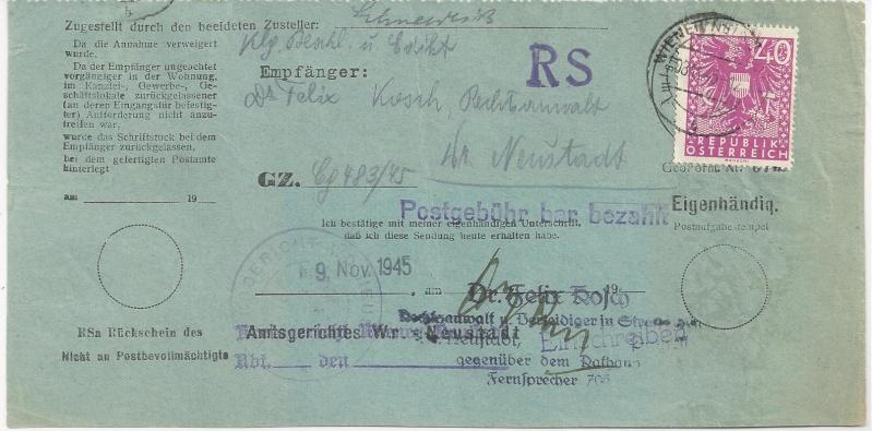 Deutsches Reich - Belege aus November 1945 Bild27