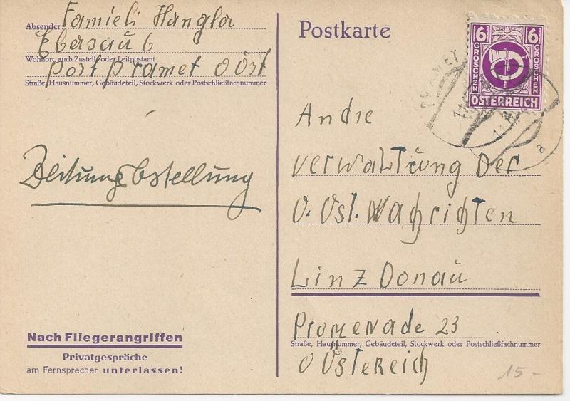 Deutsches Reich - Belege aus September 1945 Bild30