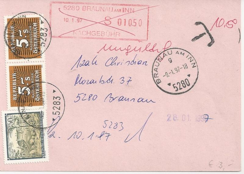 Verwendung von Portomarken in Österreich Bild66