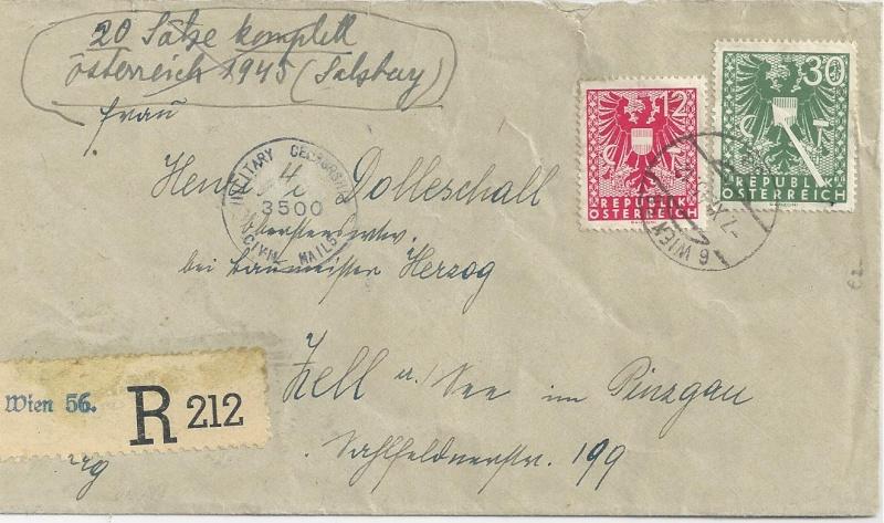 Deutsches Reich - Belege aus November 1945 Bild_223