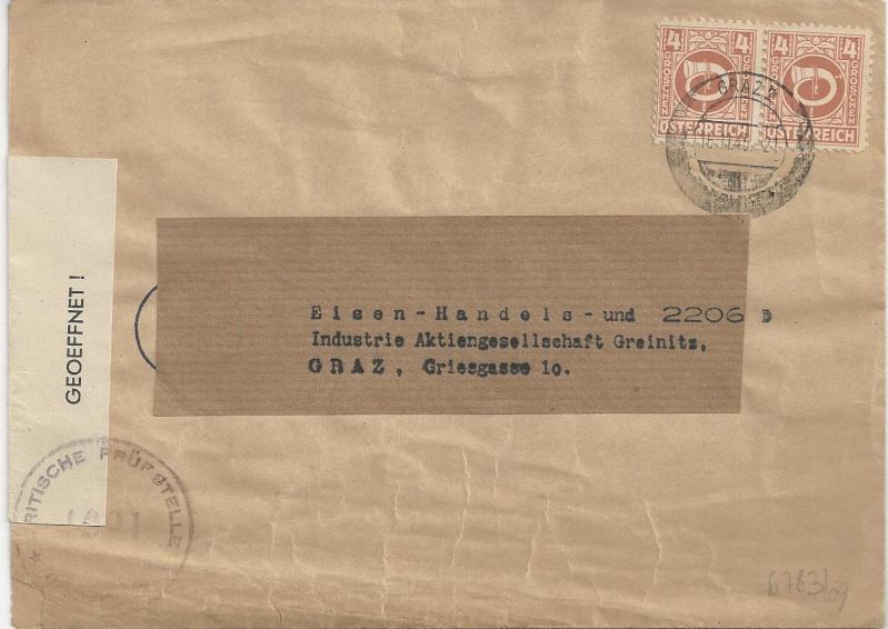 Deutsches Reich - Belege aus November 1945 Bild_224