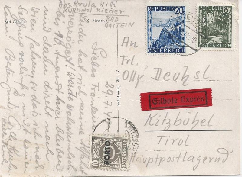 Verwendung von Portomarken in Österreich Bild_255