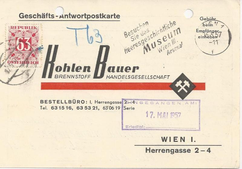 Verwendung von Portomarken in Österreich Bild_257