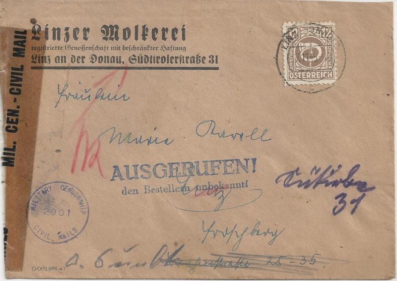 Deutsches Reich - Belege aus November 1945 Bild_322