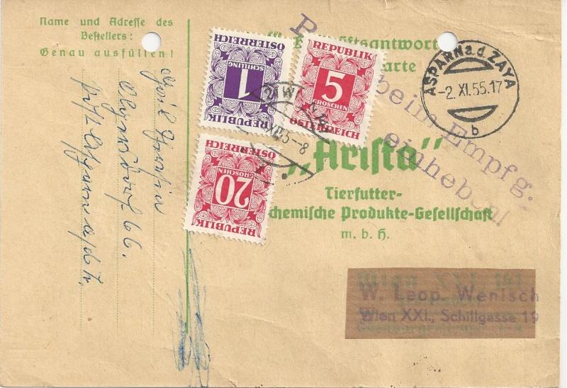 Verwendung von Portomarken in Österreich Bild_350