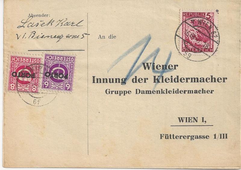 Verwendung von Portomarken in Österreich Bild_351