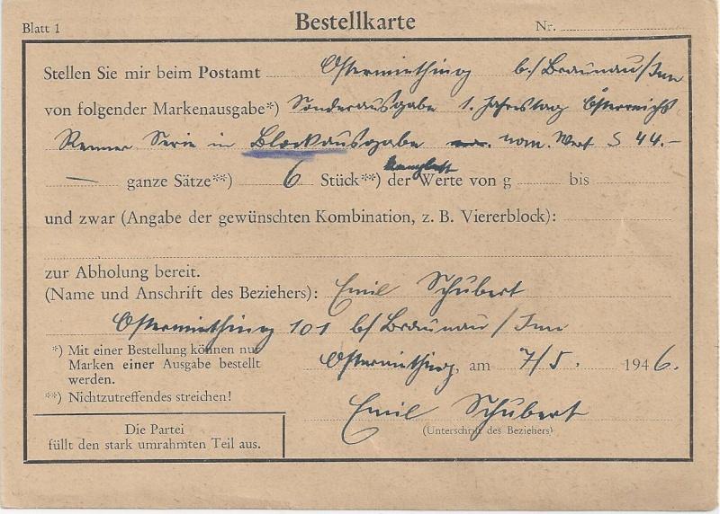 Posthornzeichnung  -  ANK 697-713  -  Belege Bild_380