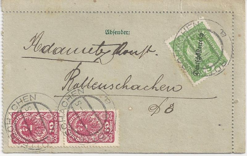 Inflation in Österreich - Belege - 1918 bis 1925 - Seite 3 Bild_397