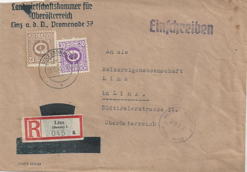 Deutsches Reich - Belege aus November 1945 Bild_422