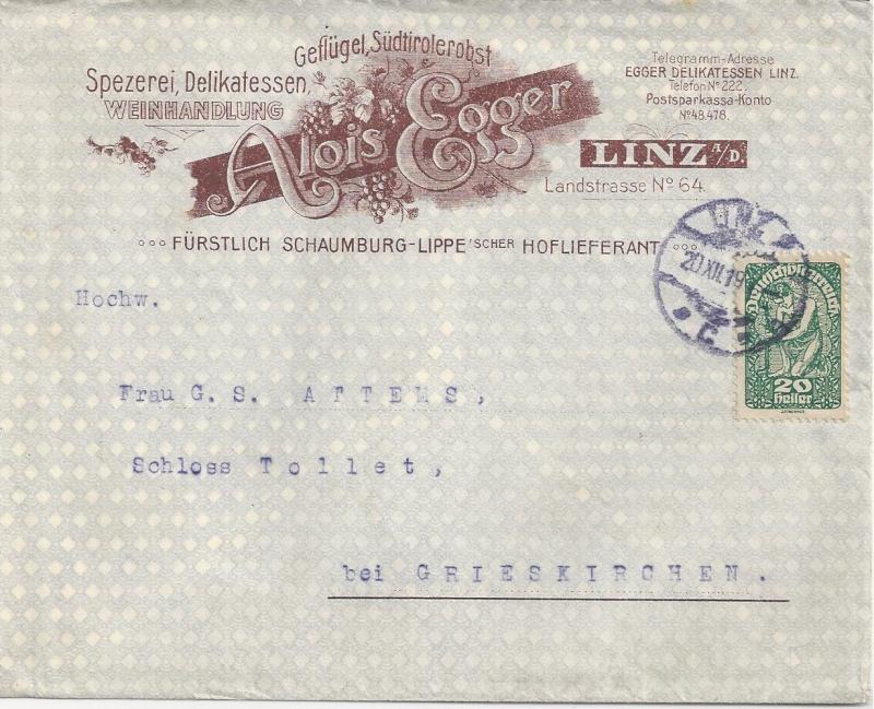 Werbeumschläge und -karten aus Österreich Bild_477