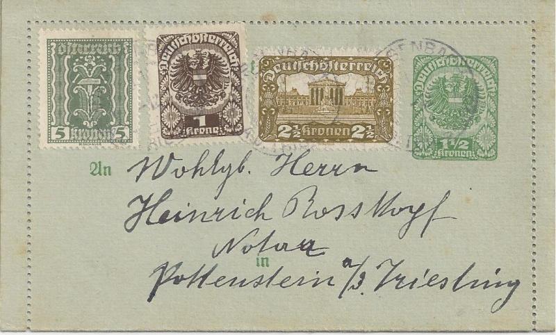 Inflation in Österreich - Belege - 1918 bis 1925 - Seite 3 Bild_480