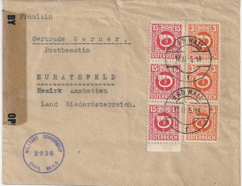 Deutsches Reich - Belege aus November 1945 Bild_523