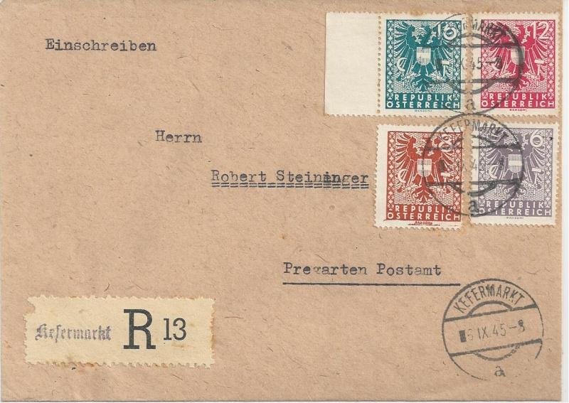 Deutsches Reich - Belege aus September 1945 Bild_525