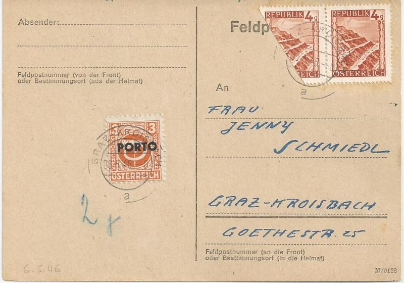 Verwendung von Portomarken in Österreich Bild_540