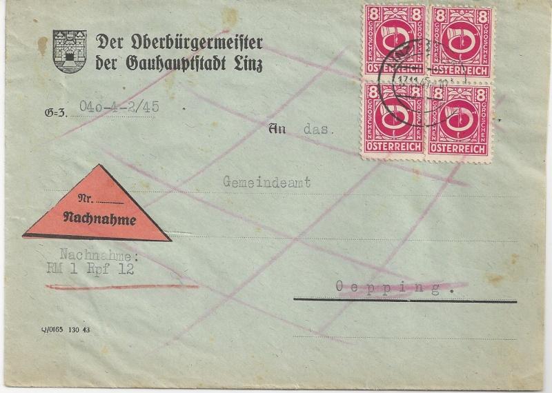 Deutsches Reich - Belege aus November 1945 Bild_619