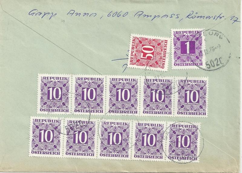 Verwendung von Portomarken in Österreich Bild_631