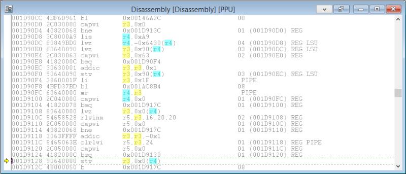 [PS3] Explications pour trouver soi-même ses codes EBOOT (PPC/ASM) Disass13