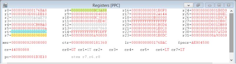 [PS3] Explications pour trouver soi-même ses codes EBOOT (PPC/ASM) Regist10