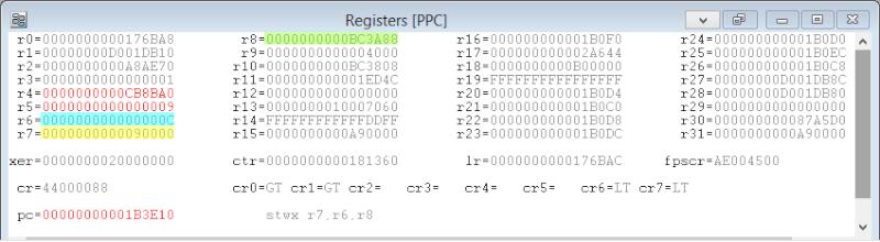 [PS3] Explications pour trouver soi-même ses codes EBOOT (PPC/ASM) Regist11