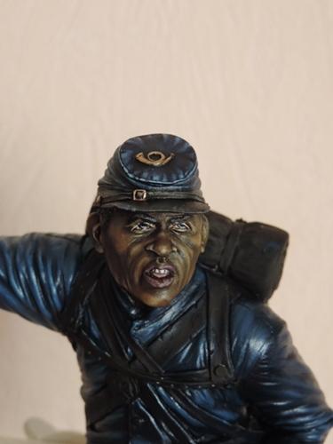 Private du 54th Massachusetts guerre de Sécession visage et casquette terminé par G.G Dscn0944