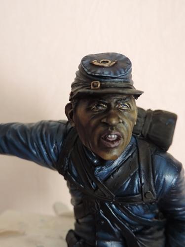 Private du 54th Massachusetts guerre de Sécession visage et casquette terminé par G.G Dscn0945