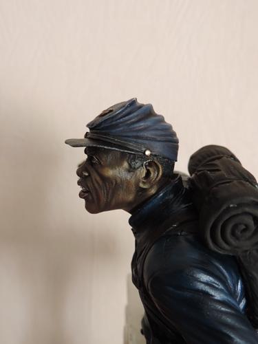 Private du 54th Massachusetts guerre de Sécession visage et casquette terminé par G.G Dscn0947