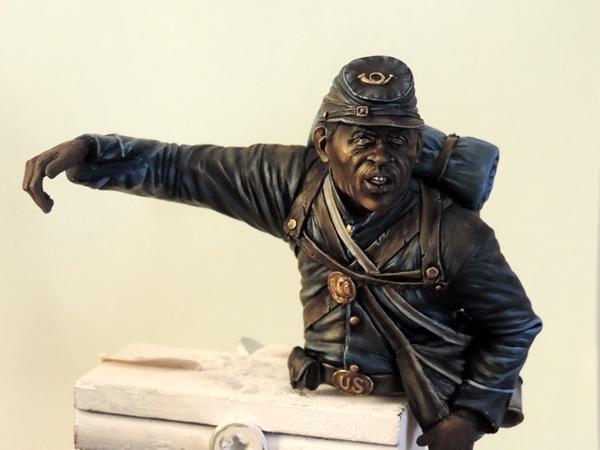 Private du 54th Massachusetts guerre de Sécession visage et casquette terminé par G.G Dscn0958