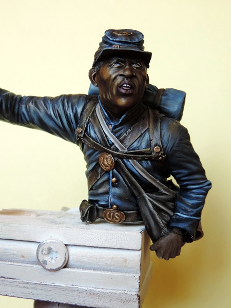 Private du 54th Massachusetts guerre de Sécession visage et casquette terminé par G.G Dscn0961