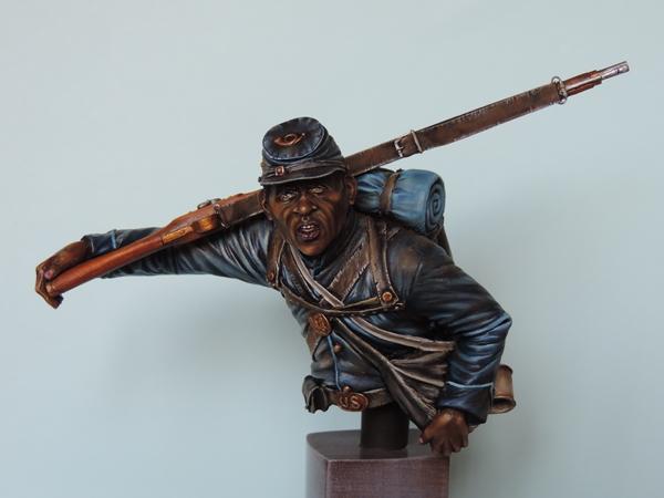 Private du 54th Massachusetts guerre de Sécession visage et casquette terminé par G.G Dscn0972