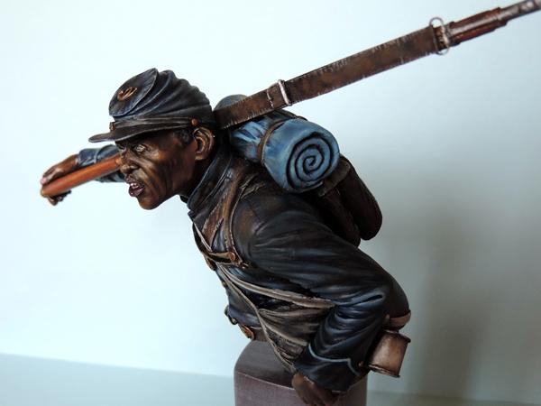 Private du 54th Massachusetts guerre de Sécession visage et casquette terminé par G.G Dscn0975