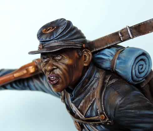 Private du 54th Massachusetts guerre de Sécession visage et casquette terminé par G.G Dscn0976